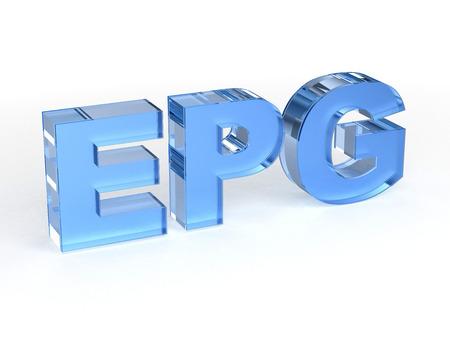 guides: EPG Electronic program guides Stock Photo