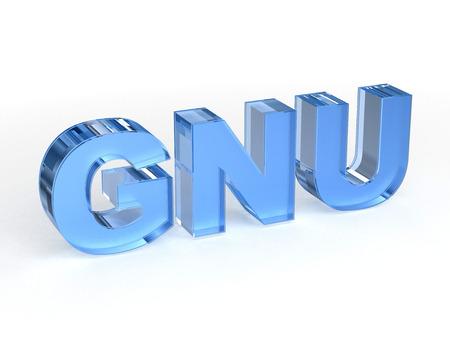 GNU free software Stock Photo