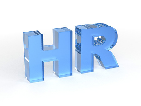 acronym: HR Human resources Stock Photo