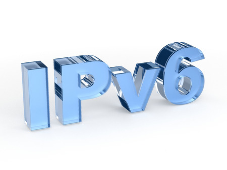 rout: IPv6 Internet Protocol version 6 Stock Photo