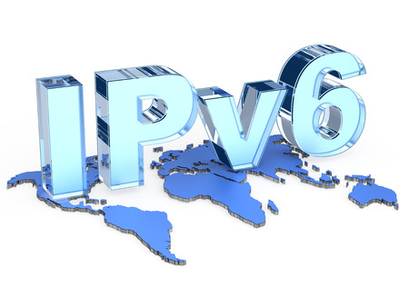 rout: IPv6 Internet Protocol version 6 Stock Photo