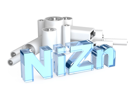 9v battery: NiZn nickel-zinc battery Stock Photo