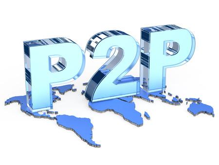 peer to peer: Global P2P (Peer to peer) word
