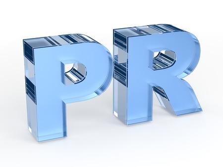 relaciones publicas: PR - relaciones públicas palabra Foto de archivo