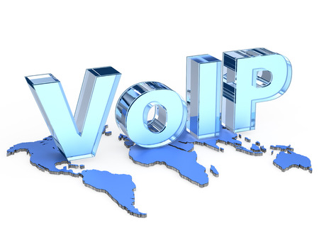 Global VoIP (Voice over Internet Protocol) Stock Photo