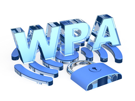 wpa: WPA (Wi-Fi Protected Access) sign Stock Photo