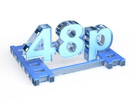 progressive: 48p - 48 progressive frames per second Stock Photo