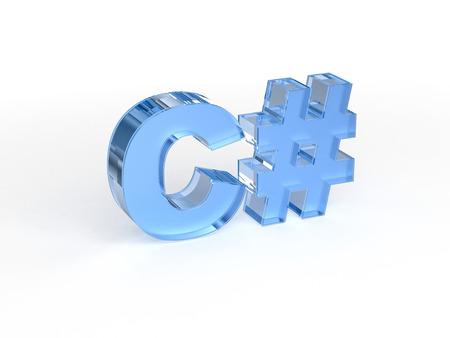 sharp: C - C sharp programming language Stock Photo