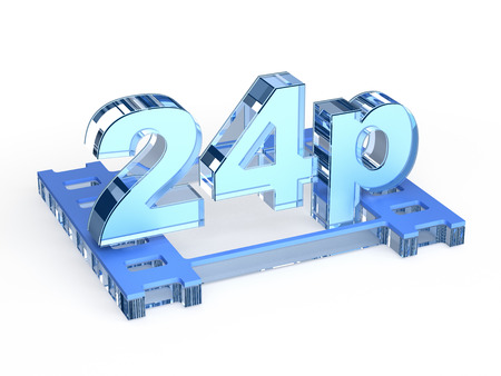 progressive: 24p - progressive 24 Frames per second Stock Photo