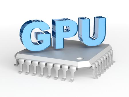 miniaturization: GPU - Graphics processing unit Stock Photo