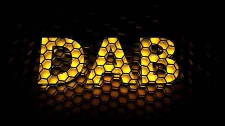 audio: DAB Digital Audio Broadcasting Stockfoto