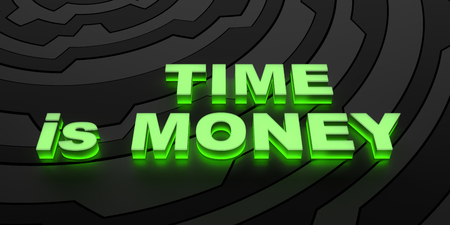 money background: TIME is MONEY - background Stock Photo