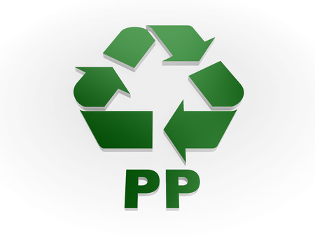 pp: Recycle PP sign Recycling codes - Polypropylene