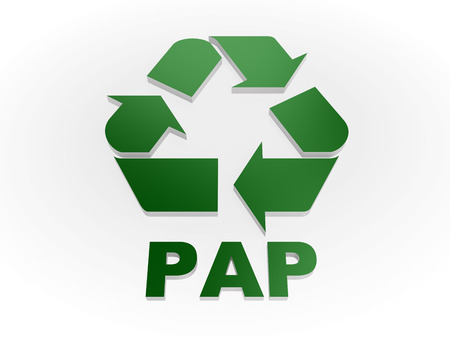 pap: Recycle PAP sign Recycling codes - Paper Stock Photo