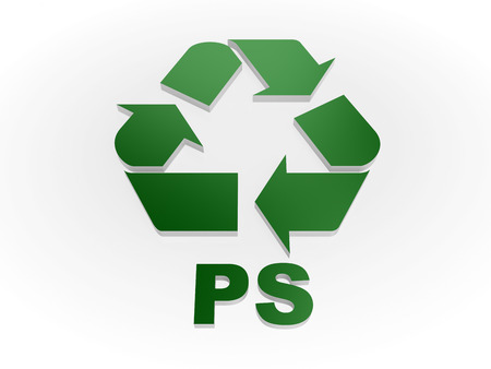 ps: Recycle PS sign Recycling codes - Polystyrene