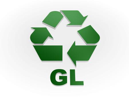 reciclable: Reciclar GL códigos de muestra de reciclaje de vidrio -