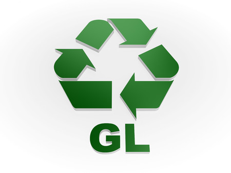 recycling symbols: Recycle GL sign Recycling codes - glass Stock Photo