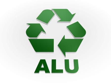 recycling symbols: Recycle ALU sign Recycling codes - Aluminium