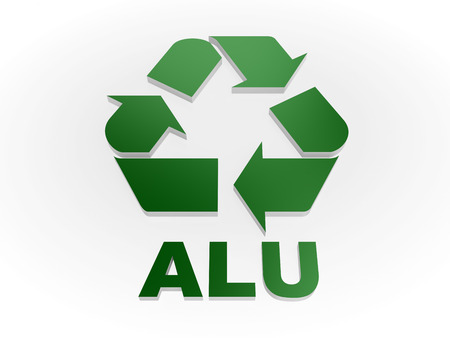 Recycle Alu Sign Recycling Codes Aluminium Stock Photo Picture