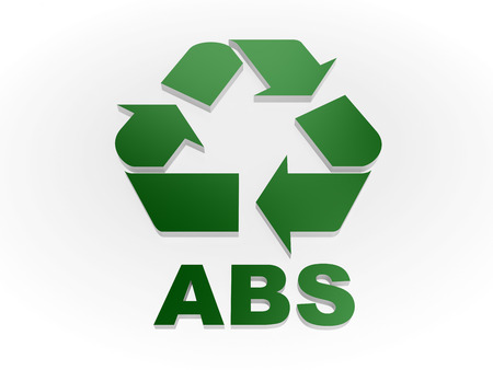 styrene: Recycle ABS sign Recycling codes - Acrylonitrile butadiene styrene