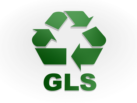 recycling symbols: Recycle GLS sign Recycling codes - glass