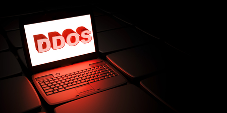 Distributed denial-of-service DDoS attack Stock Photo