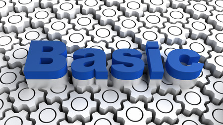 basic: Basic - programming language Stock Photo