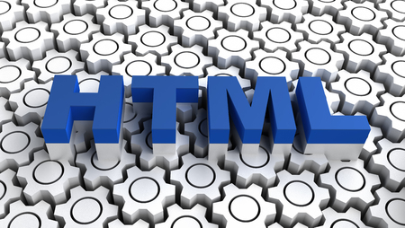 HTML - HyperText Markup Language Stock Photo