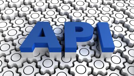 instance: API Application programming interface Stock Photo