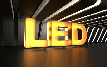 Light-emitting diode (LED) sign