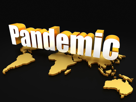 Pandemic with world map