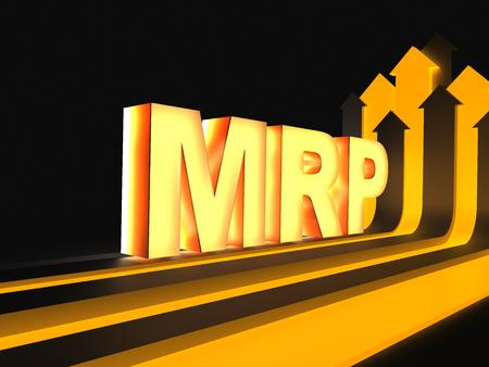 MRP - Manufacturing resource planning Stock Photo