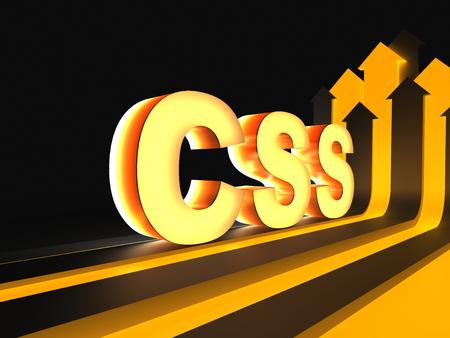 頭字語 CSS (カスケーディング スタイル シート) 写真素材