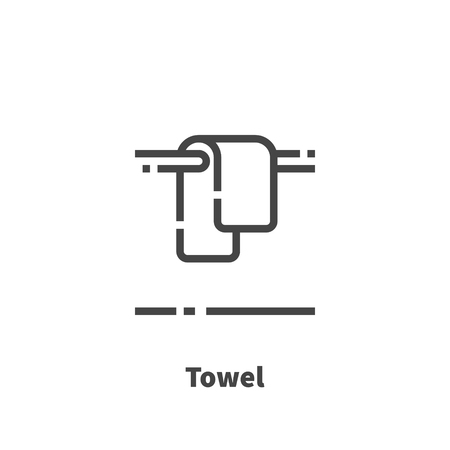 Towel icon, vector symbol in line style isolated on white background. Editable stroke 48x48 pixel perfect.