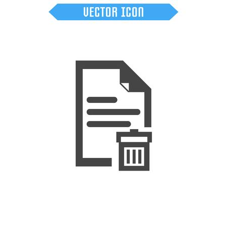 Document Vector Icon. Flat Icon. Vector sign symbol