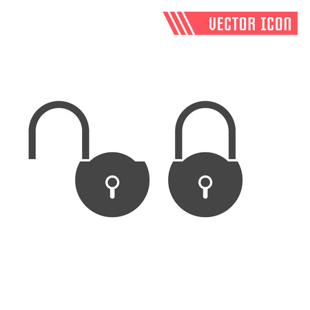 private security: Lock vector flat icon. Vector sign symbol.