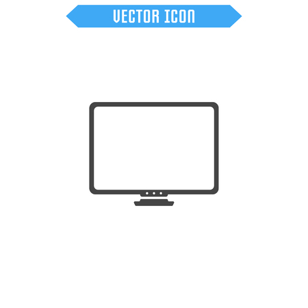 high: Monitor vector flat icon. Vector sign symbol.