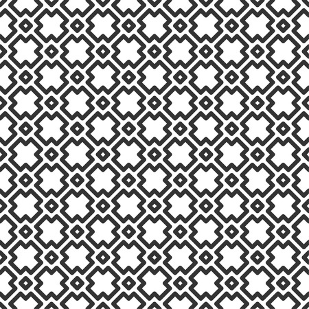 Geometric seamless pattern in line style. Vector monochrome illustration for minimalistic design. Abstract background.
