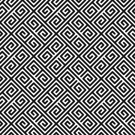 convoluted: Geometric seamless pattern in minimalistic style. Vector illustration for cover design. Abstract background.