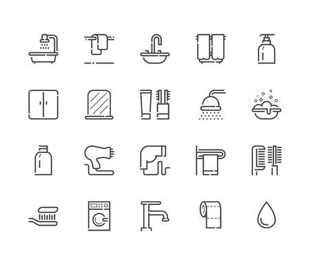 dryer: Bathroom icon. Vector set 48x48 Pixel Perfect. Illustration