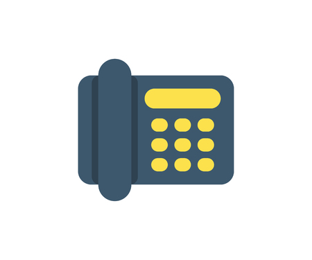 Phone icon. Vector illustration in flat minimalist style.
