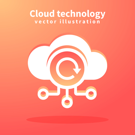 Cloud icon,  illustration for web design. Network technologies, Cloud Computing Concept.