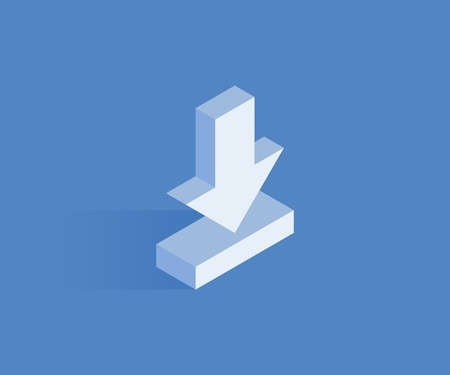 Download isometric icon. Vector illustration for web design in flat isometric 3D style.