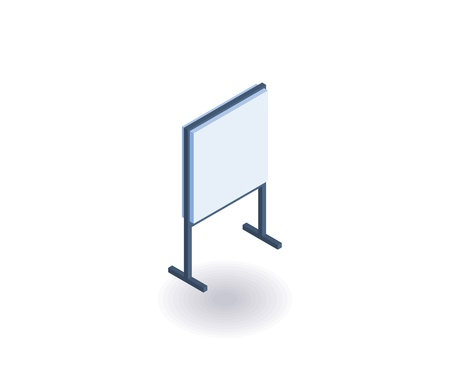 Advertising stand isometric icon. Vector 3D illustration for web design.