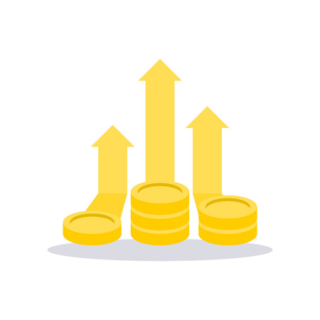 Profit money icon. Vector illustration. Vector Illustratie