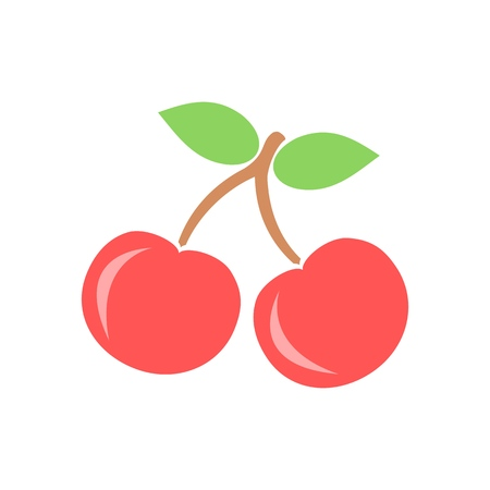 Cherry icon. Vector illustration.