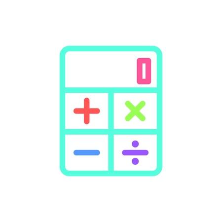 Calculator icon. Vector illustration.