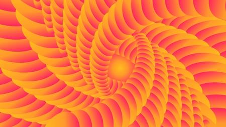 Colorful patterns. Abstract background, orange vortex, vector illustration. Stock Illustratie