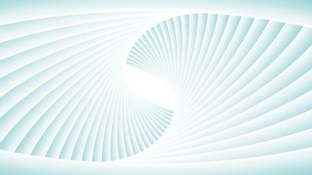 Tunnel vortex. Spiral abstract background, vector pattern. Ilustração