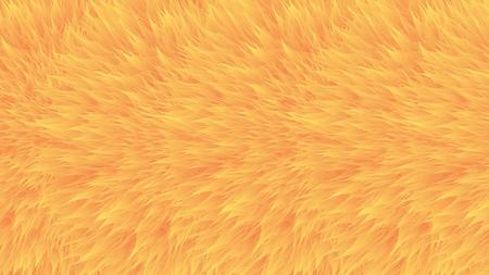 Motifs colorés. Fourrure synthétique orange, texture vectorielle, fond abstrait à fourrure. Vecteurs